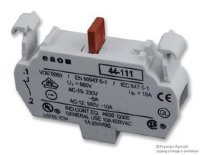 EAO 44-111 SWITCHING ELEMENT, 1NC, 10A, SCREW; FOR USE WITH:EAO 44 SERIES PUSHBUTTON SWITCHES; NO. OF POLES:1; CONTACT CURRENT MAX:10A; CONTACT VOLTAGE AC MAX:50
